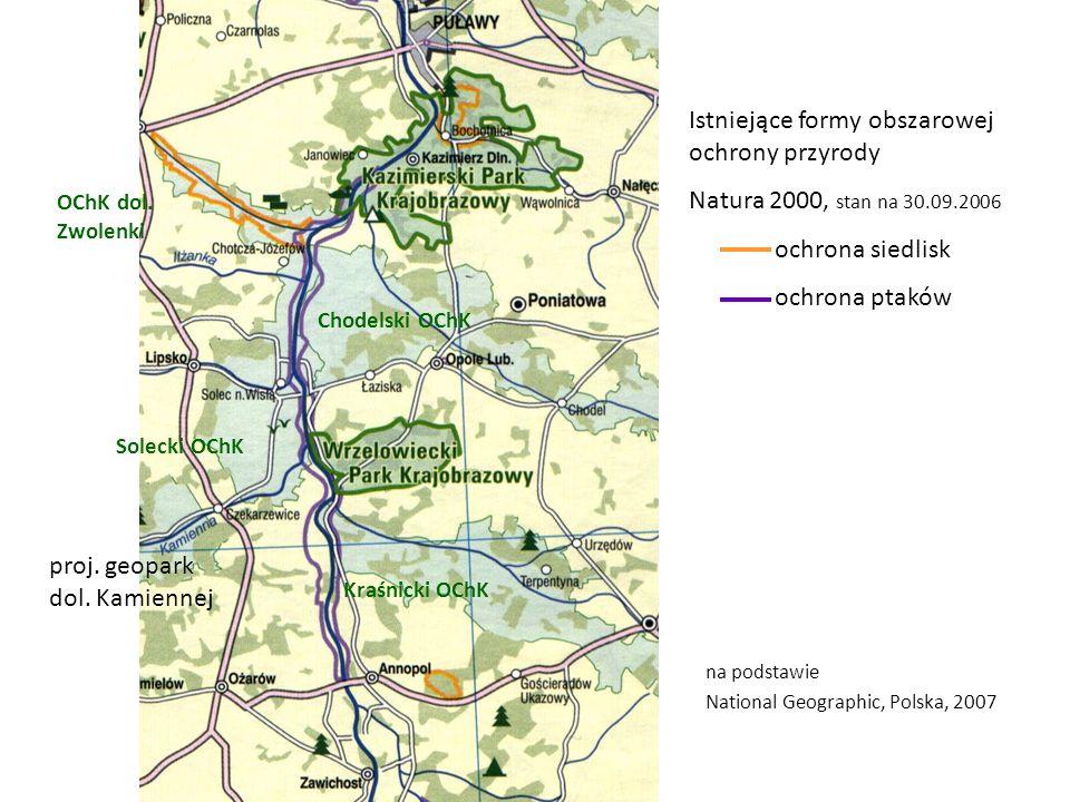 Istniejące formy obszarowej ochrony przyrody