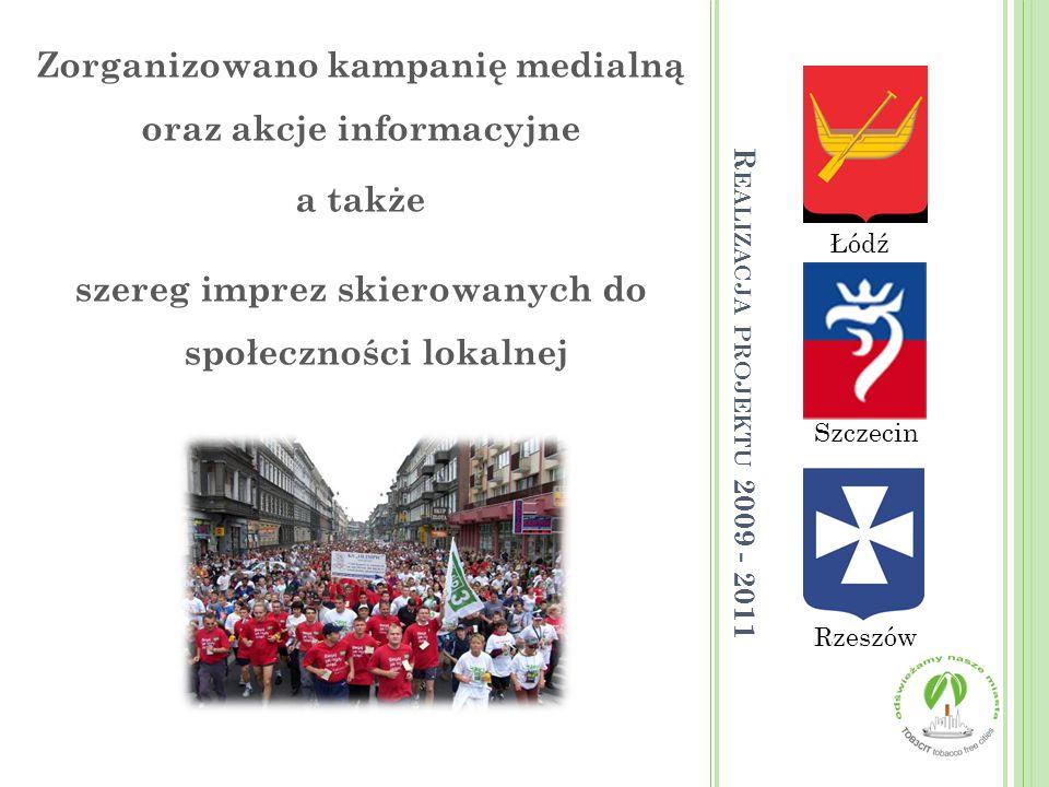 Zorganizowano kampanię medialną oraz akcje informacyjne a także szereg imprez skierowanych do społeczności lokalnej