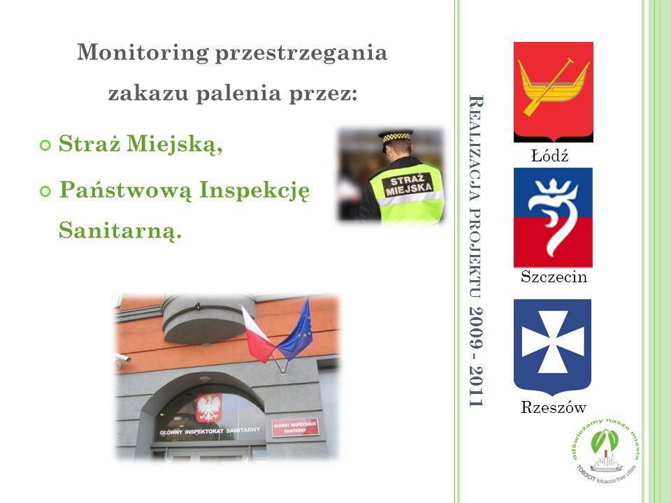 Monitoring przestrzegania zakazu palenia przez: