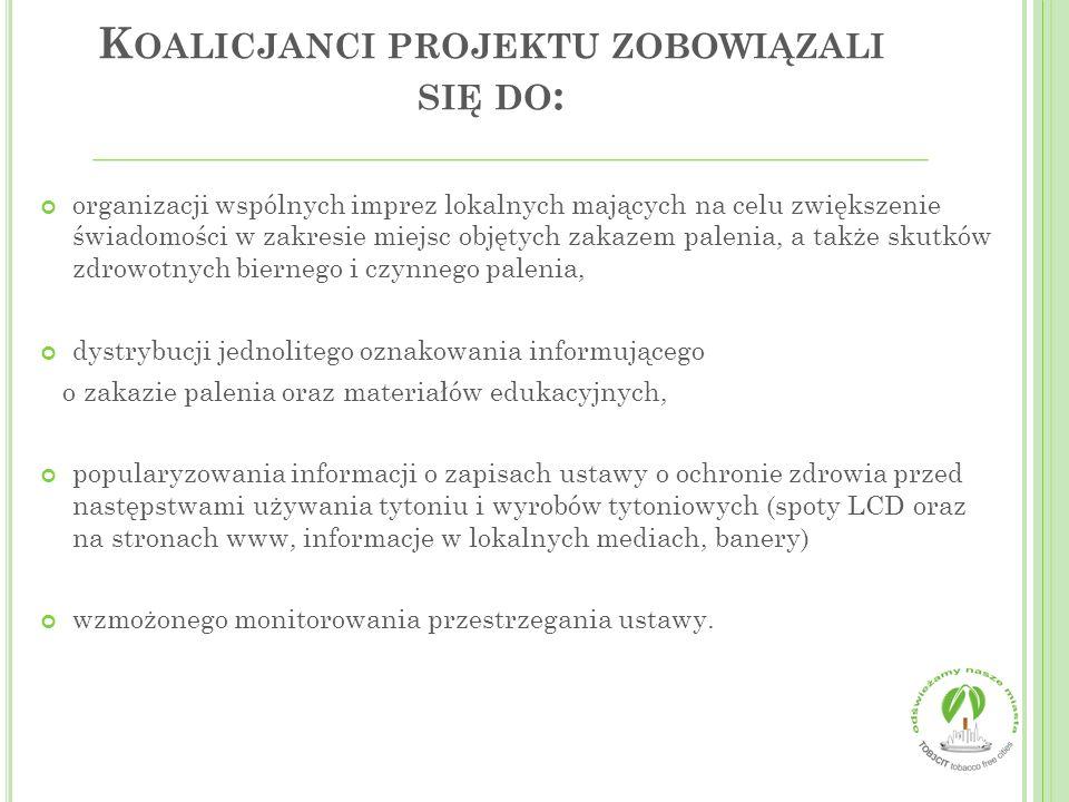 Koalicjanci projektu zobowiązali się do: