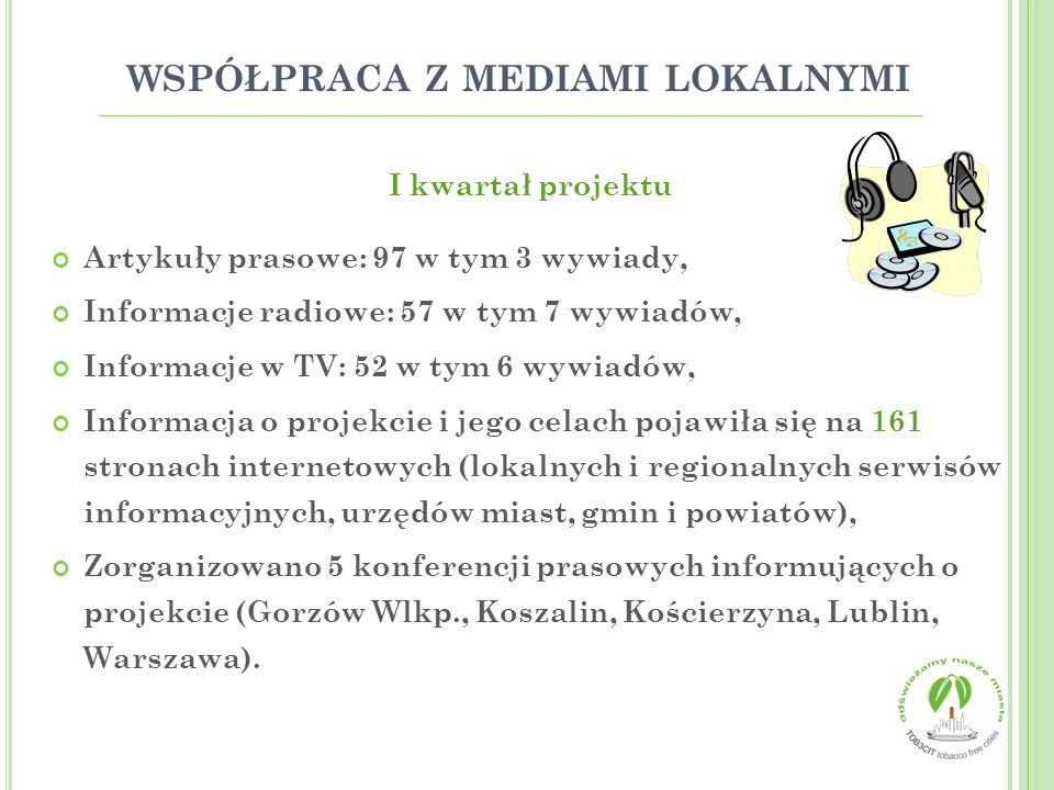 współpraca z mediami lokalnymi