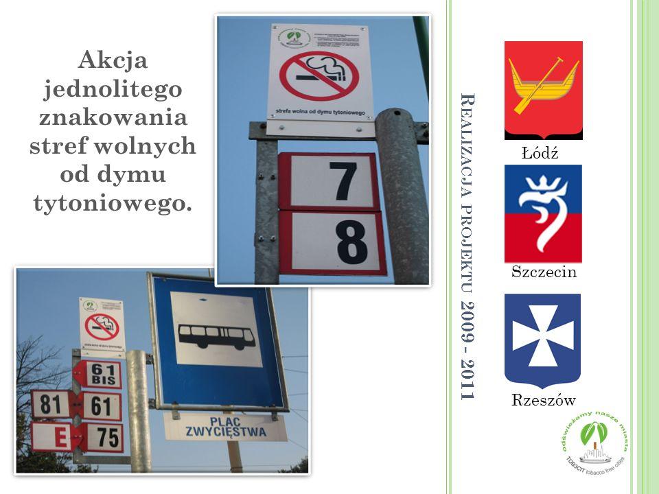Akcja jednolitego znakowania stref wolnych od dymu tytoniowego.