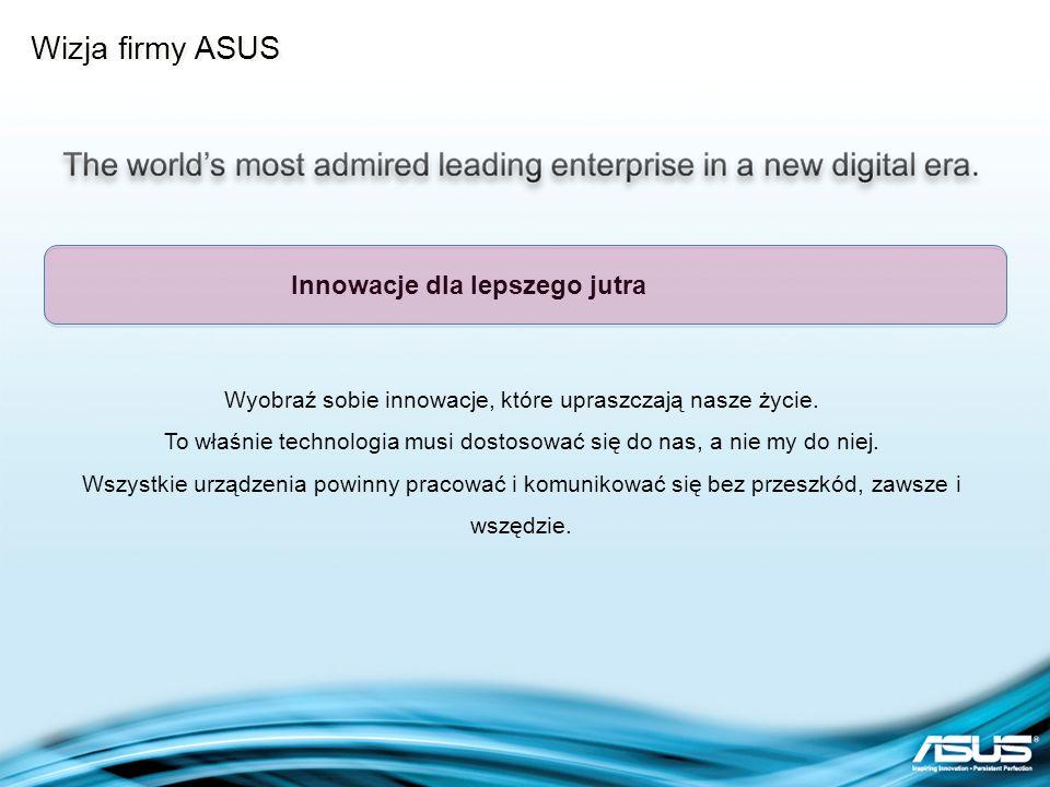 Wizja firmy ASUS Innowacje dla lepszego jutra
