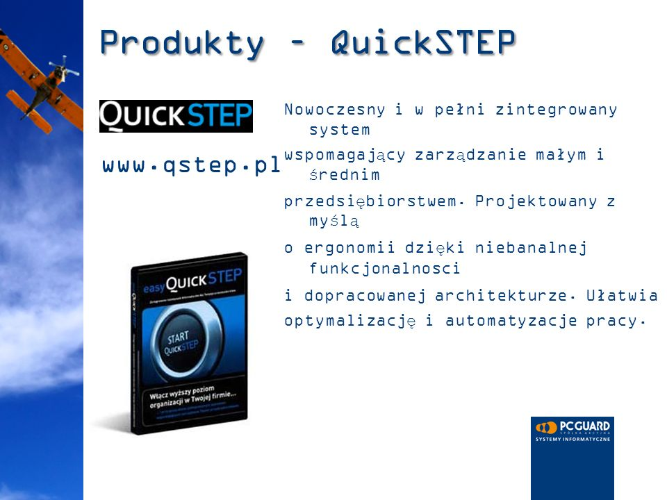 Produkty – QuickSTEP www.qstep.pl