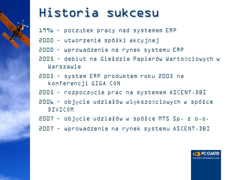 Historia sukcesu 1996 – początek pracy nad systemem ERP