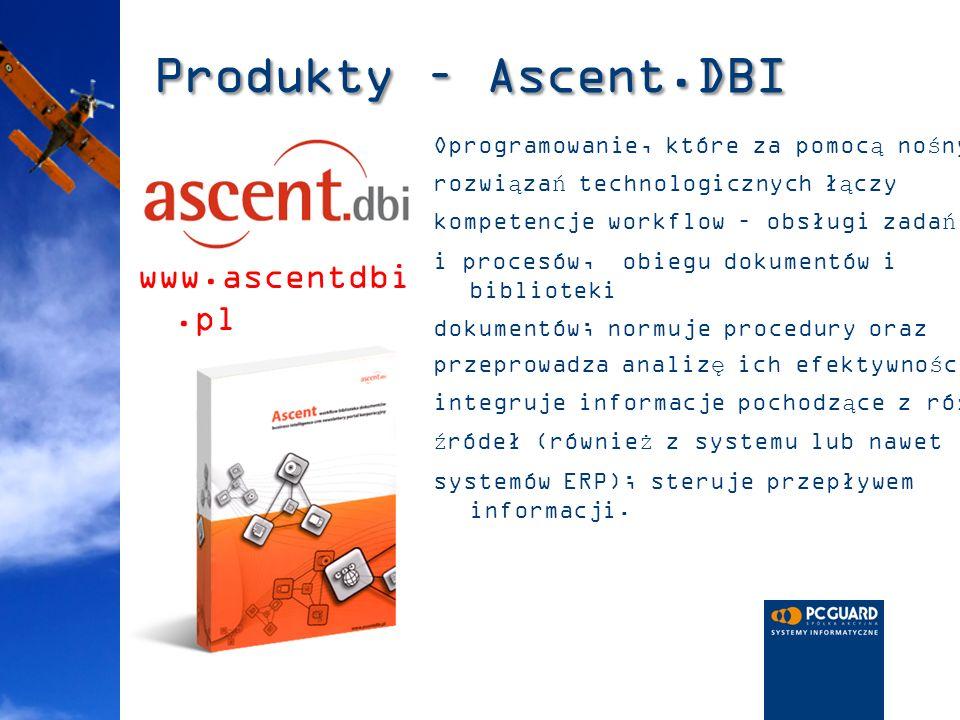 Produkty – Ascent.DBI www.ascentdbi.pl