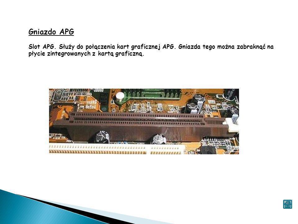Gniazdo APGSlot APG.Służy do połączenia kart graficznej APG.