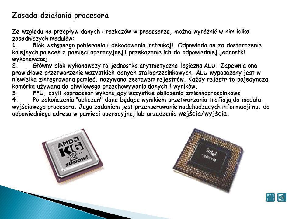 Zasada działania procesora