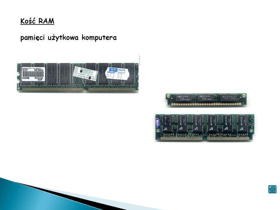 Kość RAM pamięci użytkowa komputera