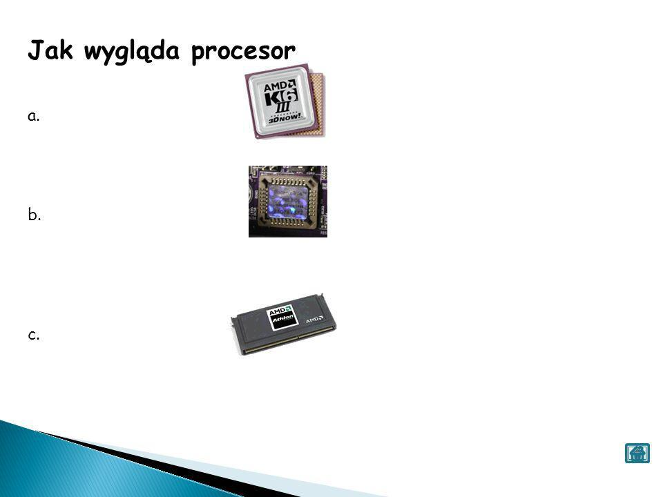 Jak wygląda procesor a. b. c.