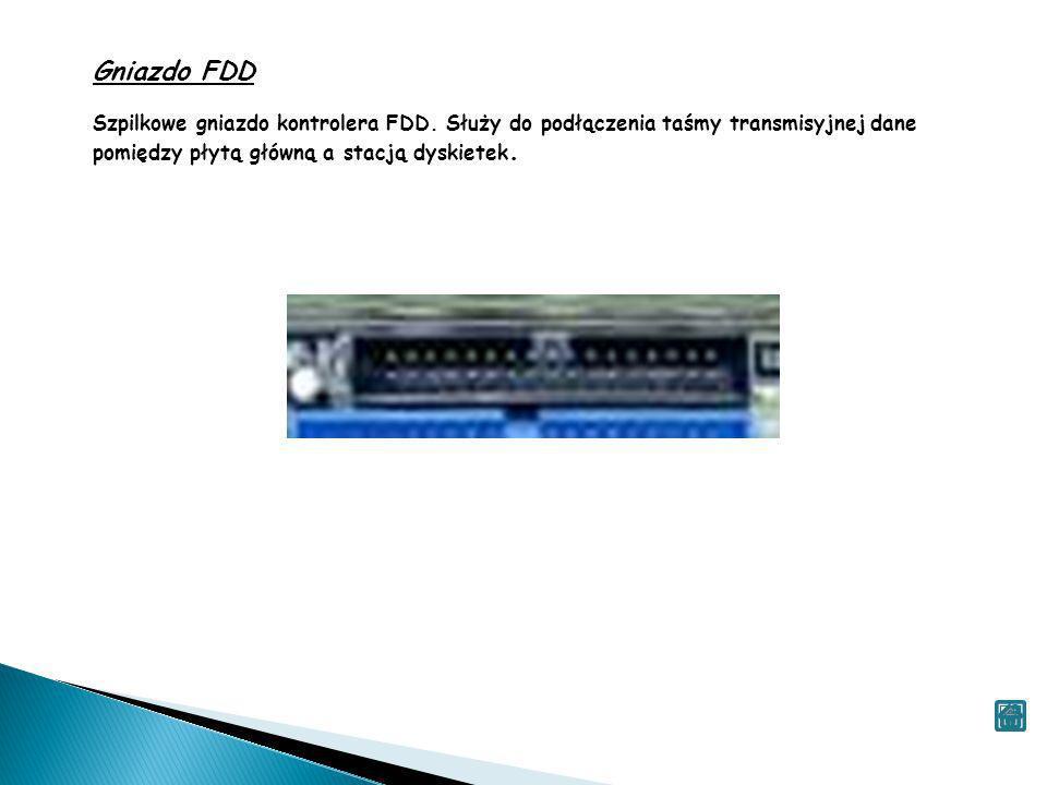 Gniazdo FDD Szpilkowe gniazdo kontrolera FDD.
