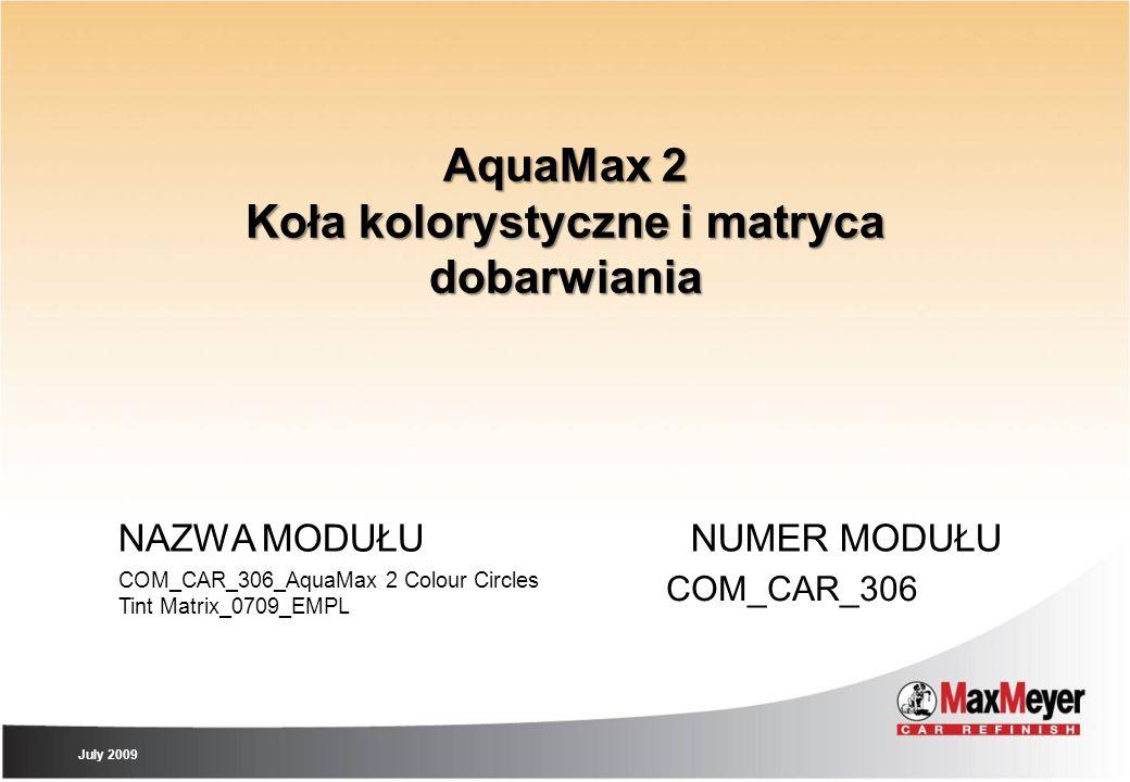 AquaMax 2 Koła kolorystyczne i matryca dobarwiania