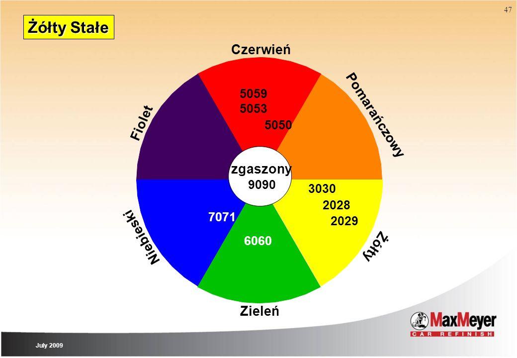 Żółty Stałe Czerwień Pomarańczowy Fiolet zgaszony Niebieski Żółty