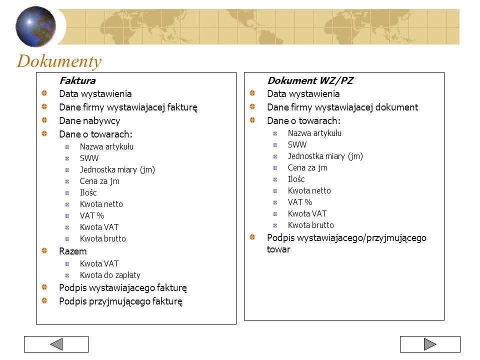 Dokumenty Faktura Data wystawienia Dane firmy wystawiajacej fakturę
