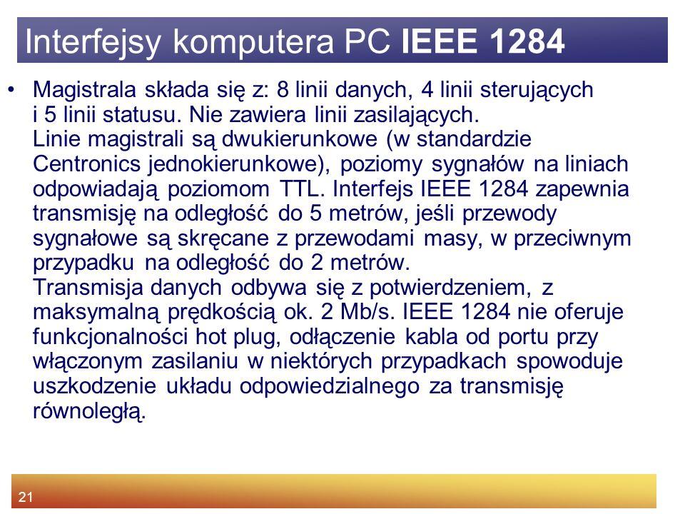 Interfejsy komputera PC IEEE 1284