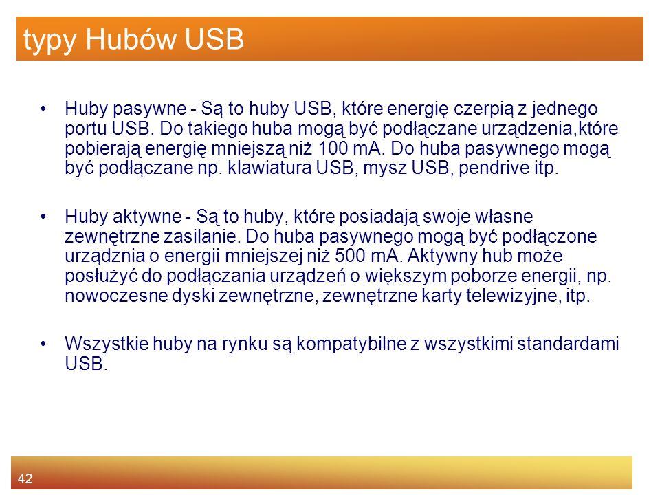typy Hubów USB