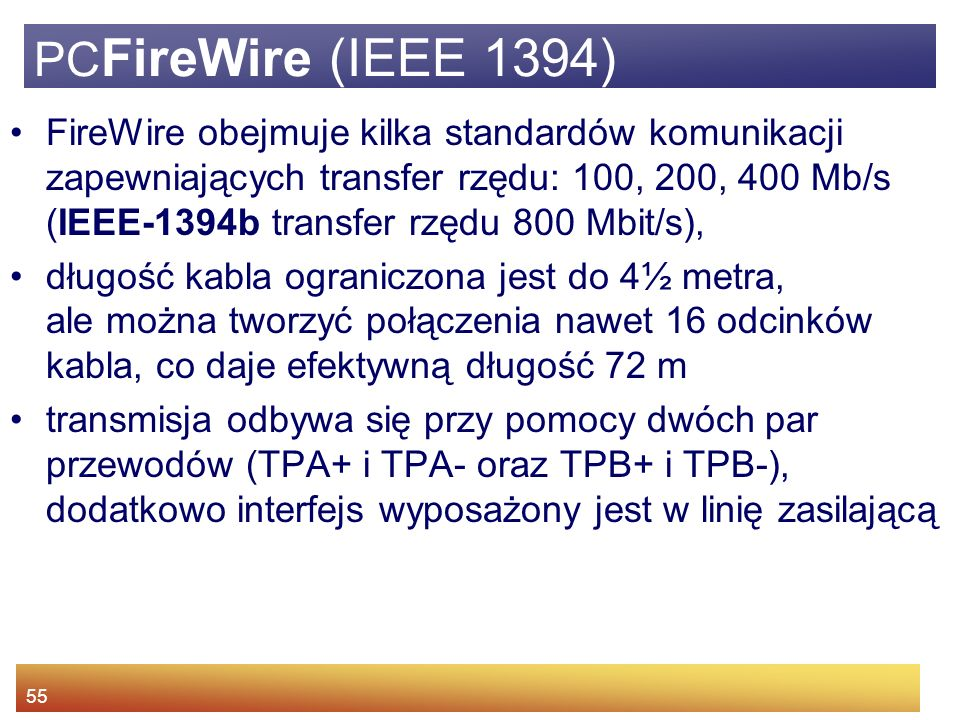 PCFireWire (IEEE 1394)