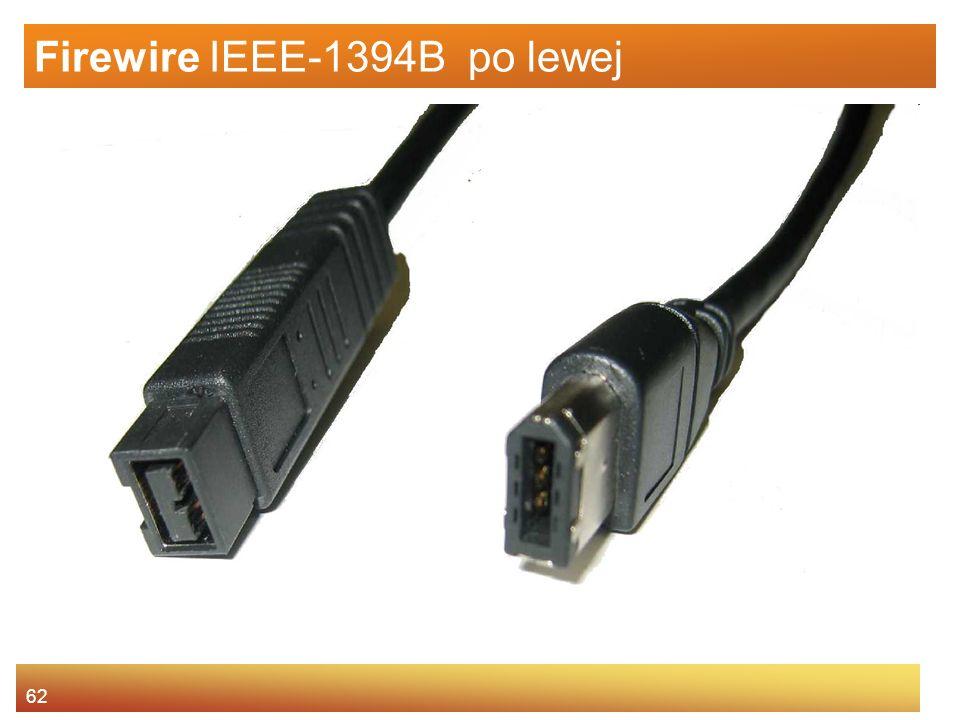 Firewire IEEE-1394B po lewej