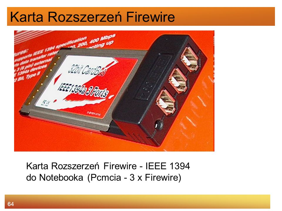 Karta Rozszerzeń Firewire
