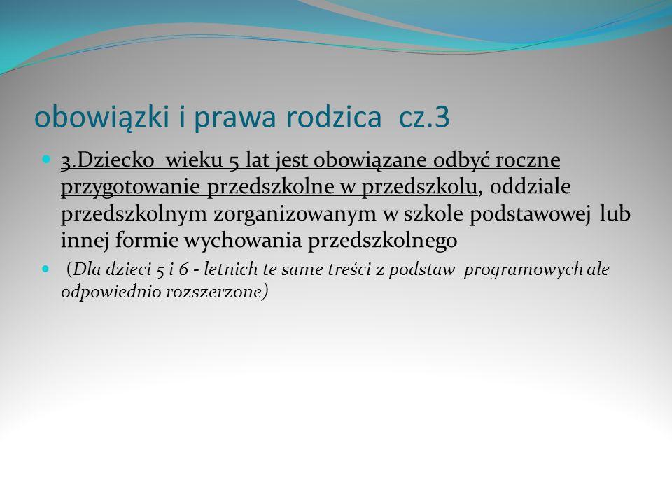 obowiązki i prawa rodzica cz.3