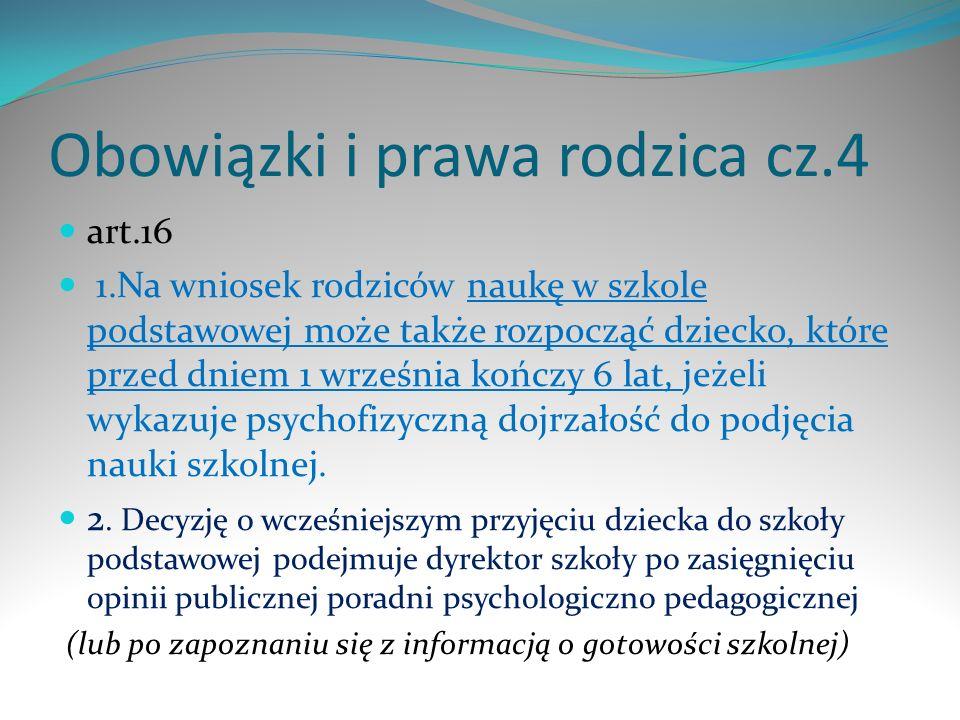 Obowiązki i prawa rodzica cz.4