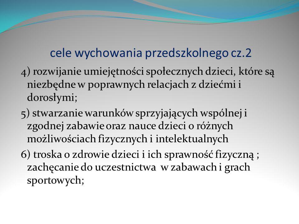 cele wychowania przedszkolnego cz.2