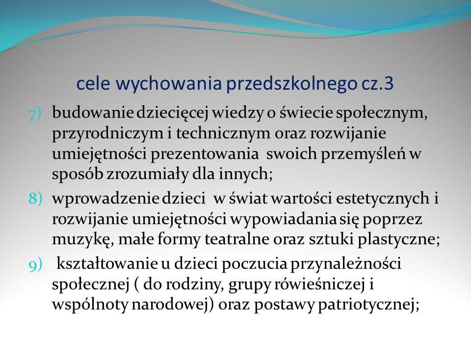 cele wychowania przedszkolnego cz.3
