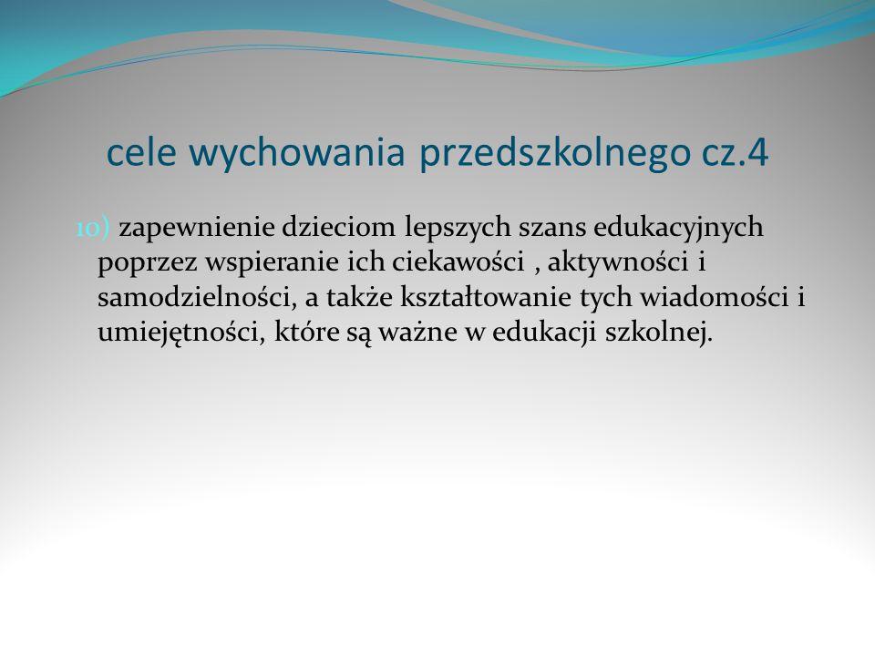 cele wychowania przedszkolnego cz.4