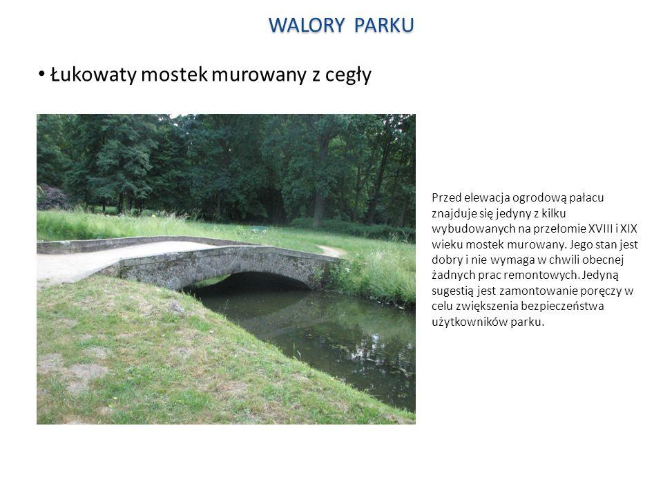 Łukowaty mostek murowany z cegły