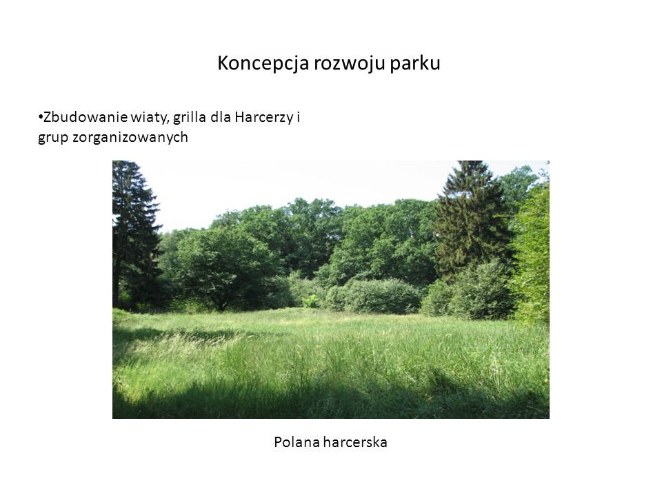 Koncepcja rozwoju parku