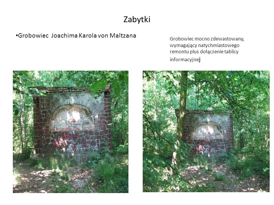 Zabytki Grobowiec Joachima Karola von Maltzana