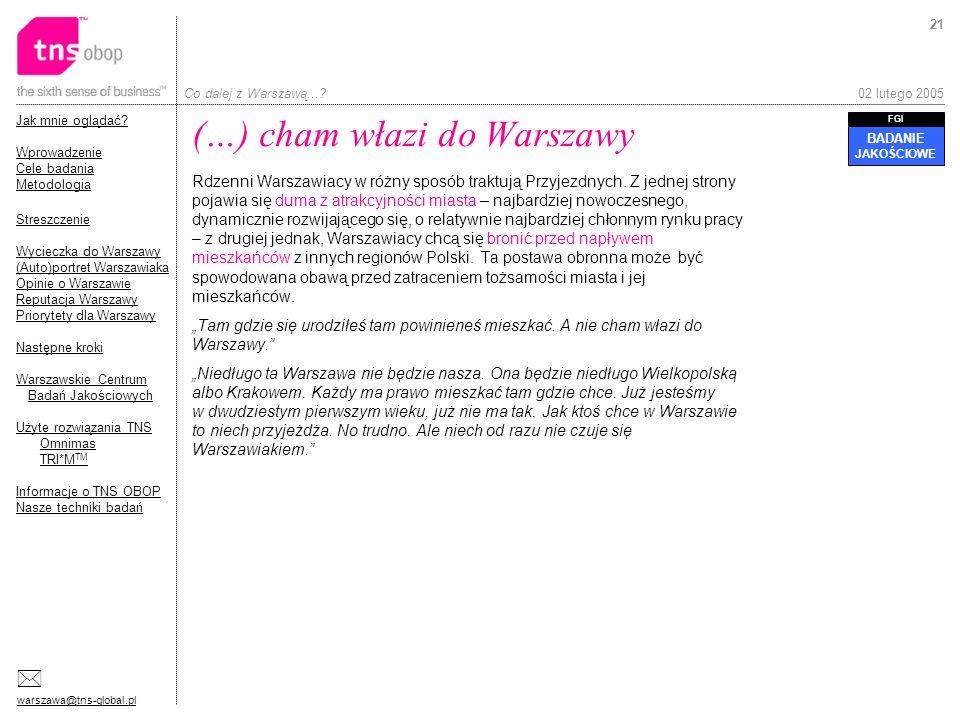 (…) cham włazi do Warszawy