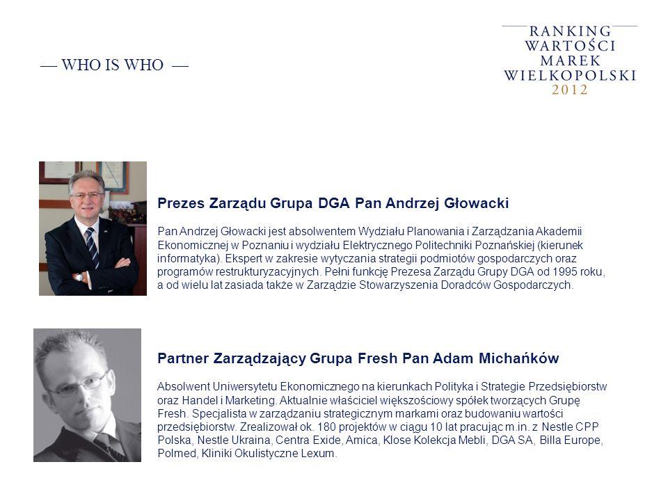 — WHO IS WHO — Prezes Zarządu Grupa DGA Pan Andrzej Głowacki
