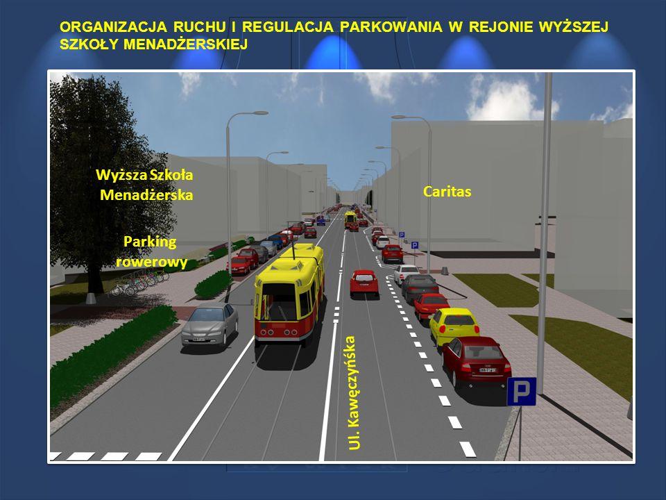 Wyższa Szkoła Menadżerska Caritas Parking rowerowy Ul. Kawęczyńśka