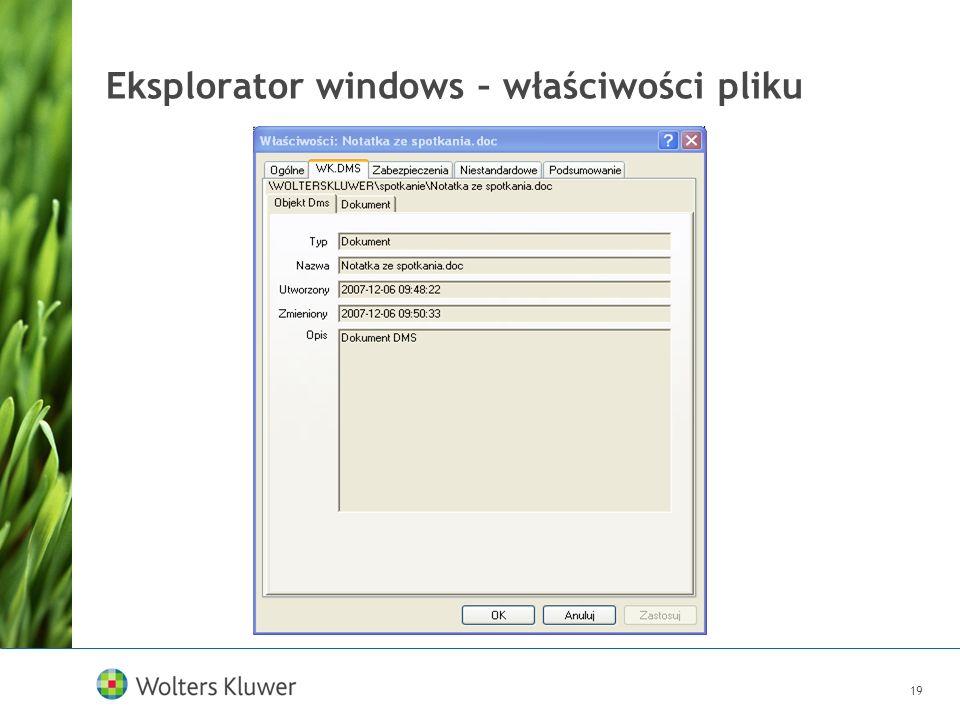 Eksplorator windows – właściwości pliku