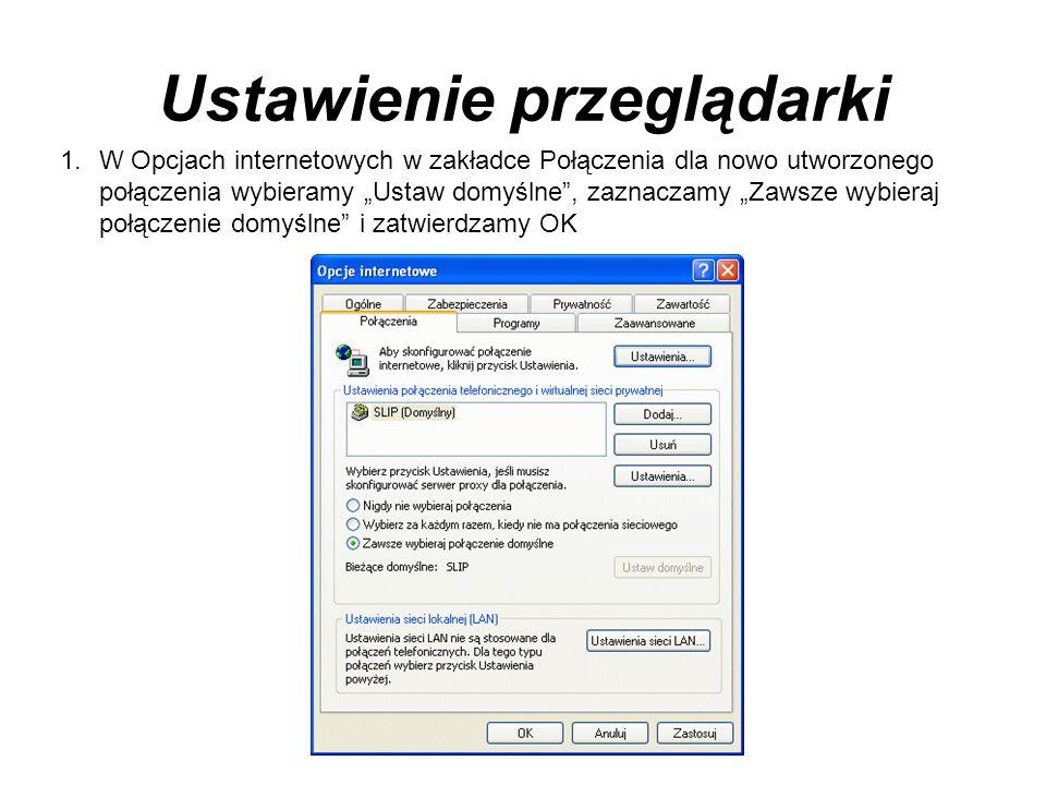 Ustawienie przeglądarki
