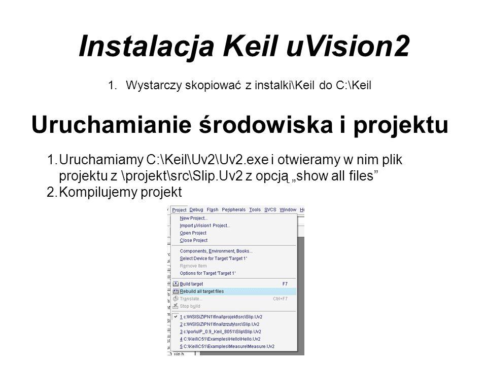 Instalacja Keil uVision2