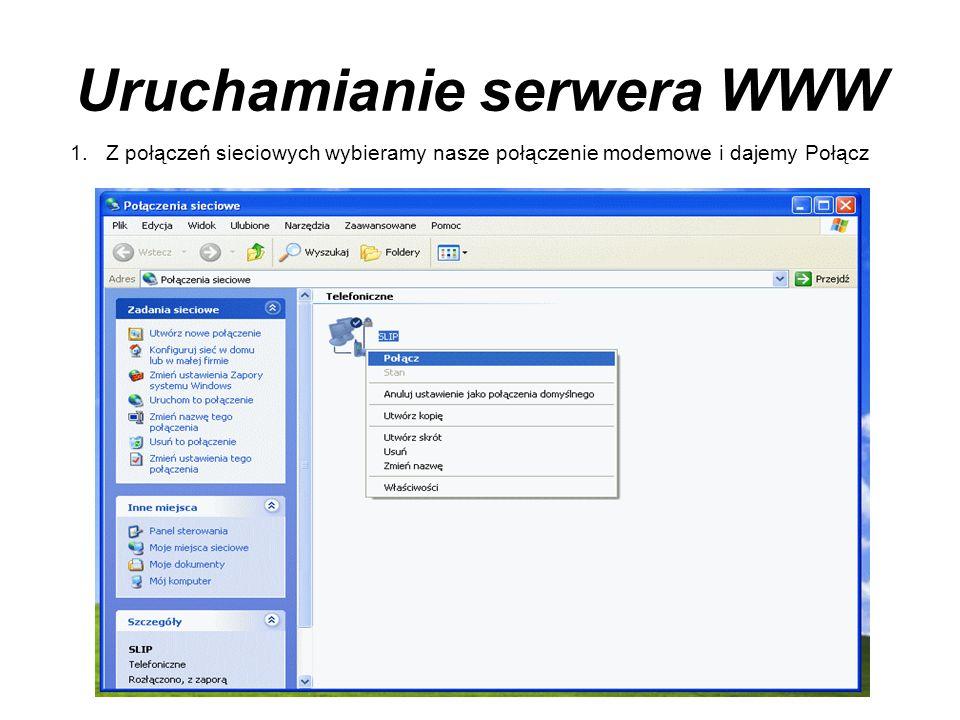 Uruchamianie serwera WWW
