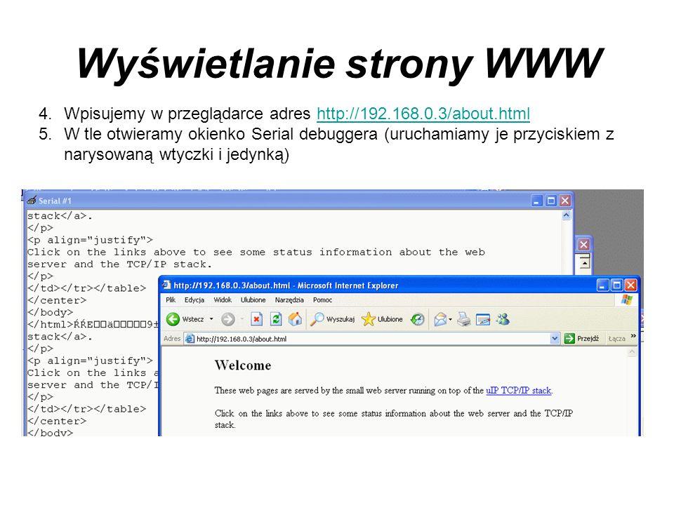 Wyświetlanie strony WWW
