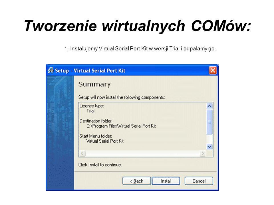 Tworzenie wirtualnych COMów: