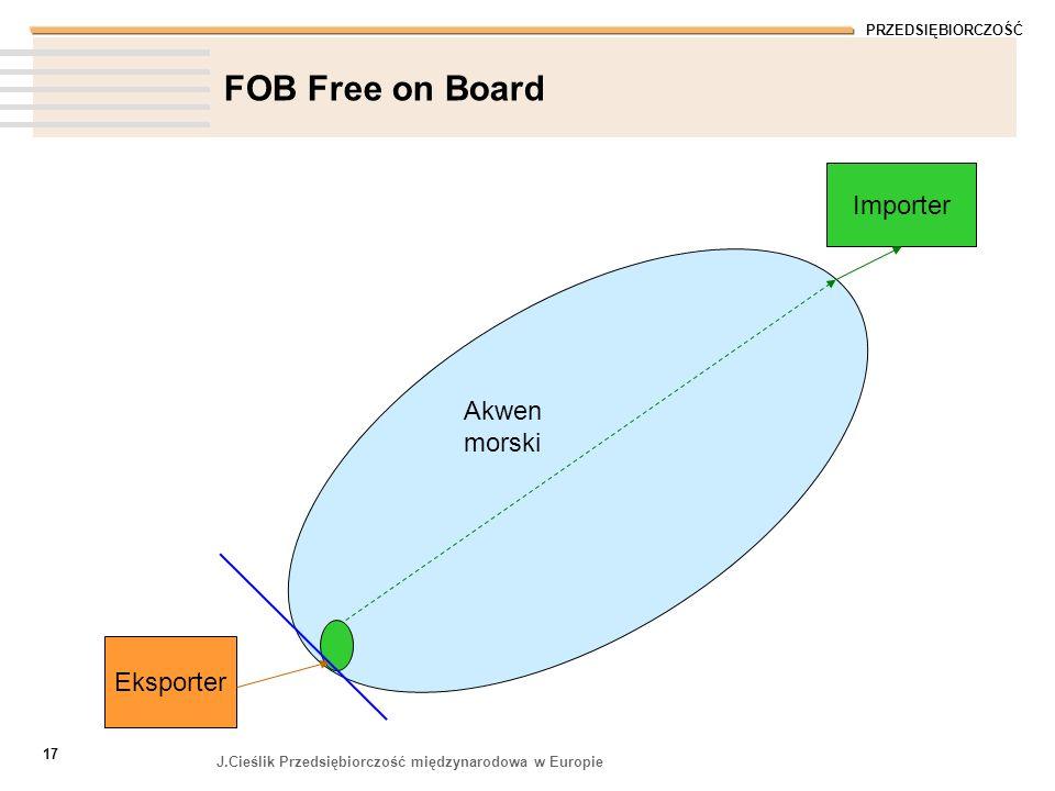 FOB Free on Board Importer Akwen morski Eksporter