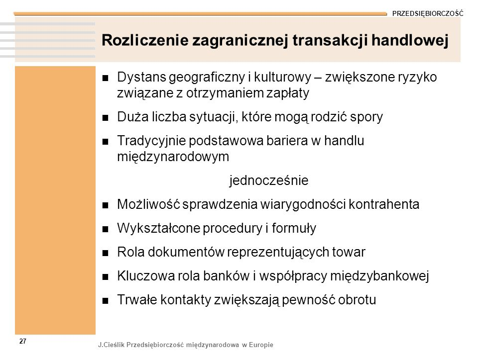 Rozliczenie zagranicznej transakcji handlowej