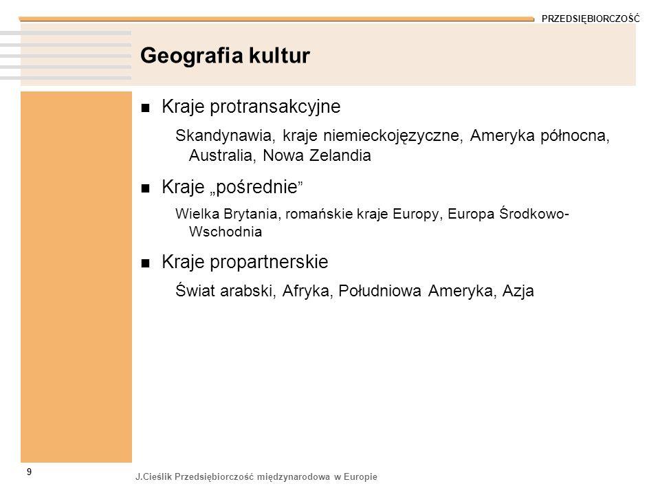 """Geografia kultur Kraje protransakcyjne Kraje """"pośrednie"""
