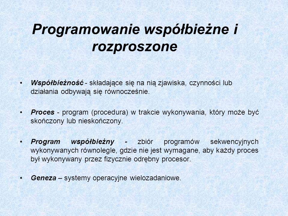Programowanie współbieżne i rozproszone