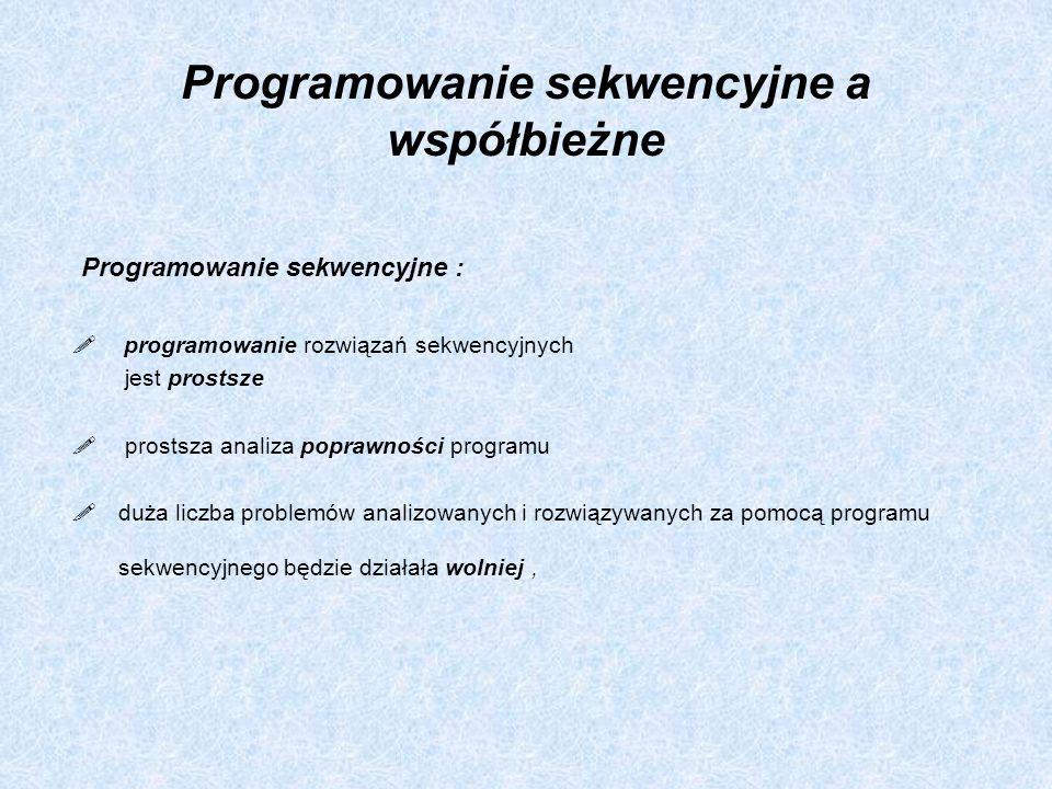 Programowanie sekwencyjne a współbieżne