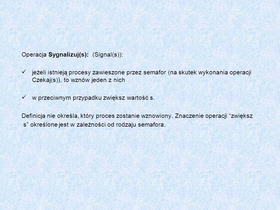 Operacja Sygnalizuj(s): (Signal(s)):