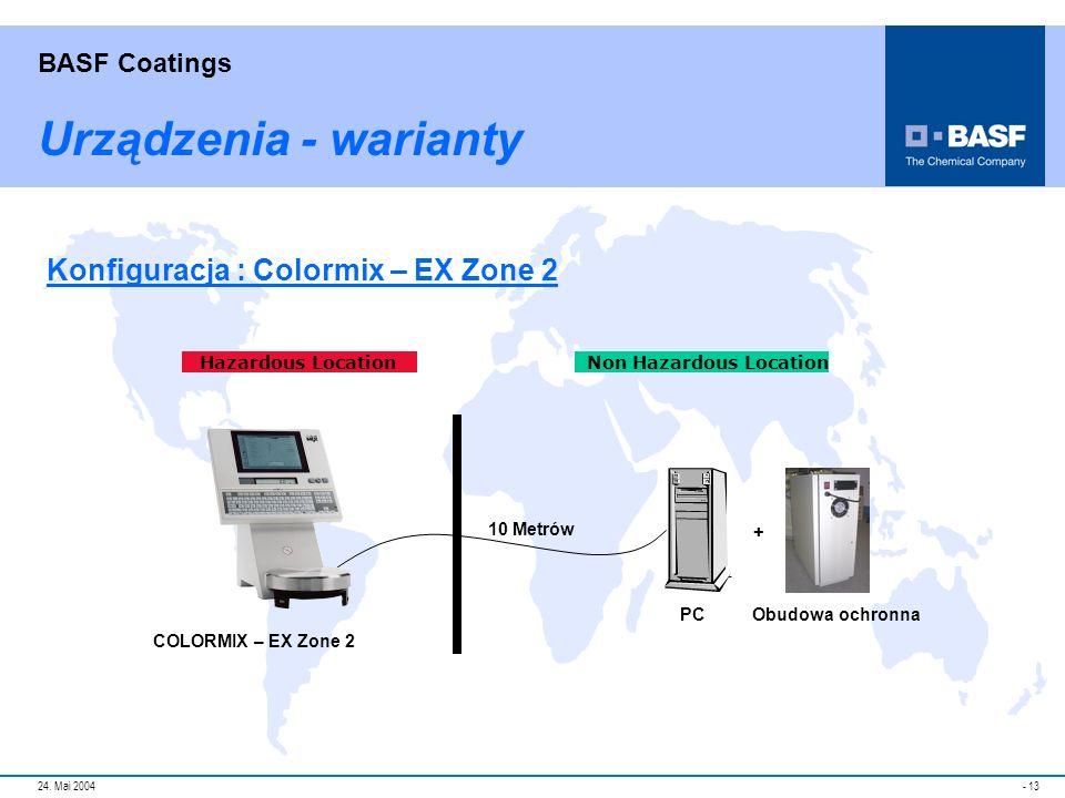 Urządzenia - warianty Konfiguracja : Colormix – EX Zone 2