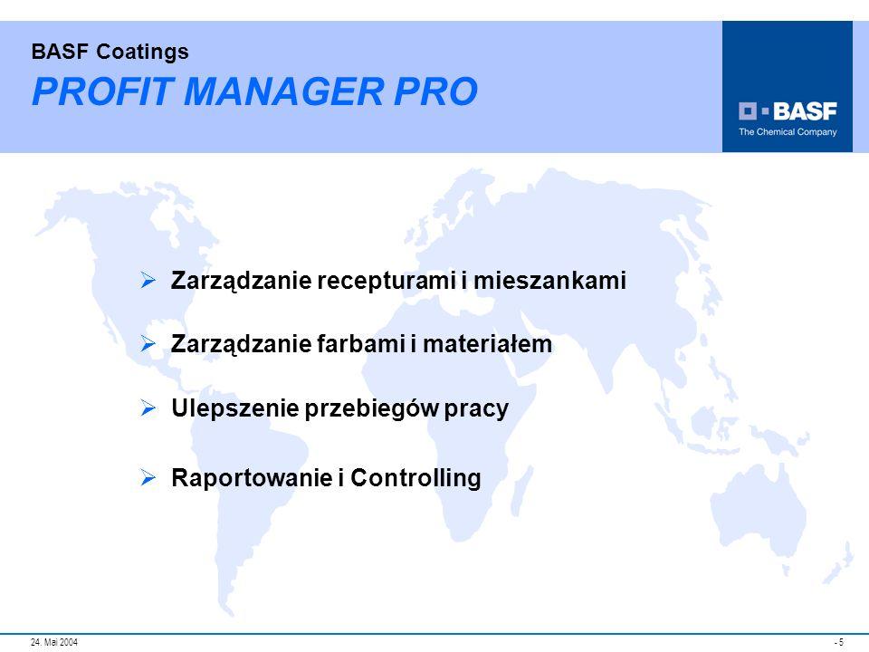 PROFIT MANAGER PRO Zarządzanie recepturami i mieszankami