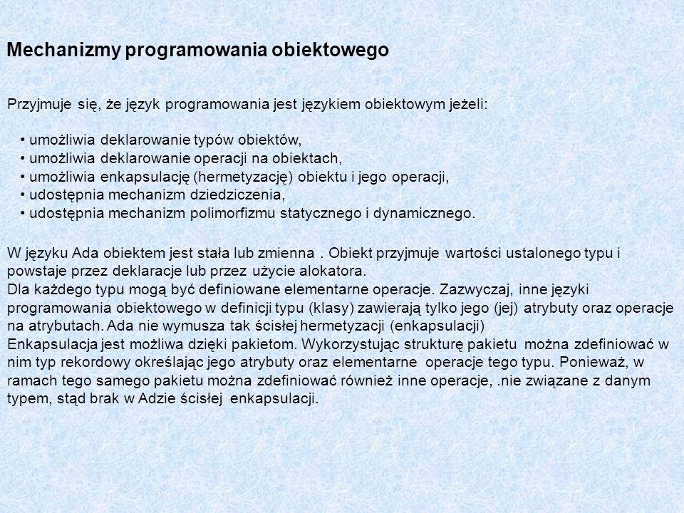 Mechanizmy programowania obiektowego
