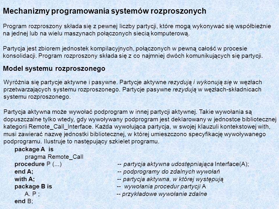 Mechanizmy programowania systemów rozproszonych